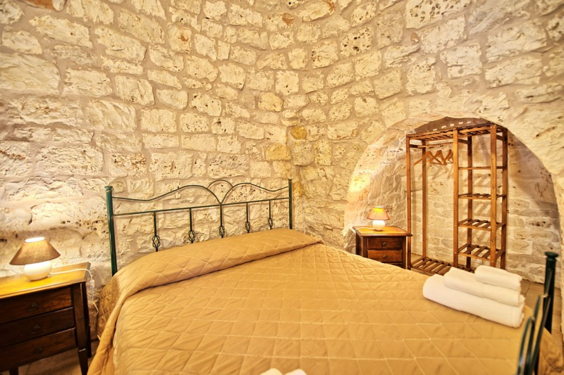 double bedroom in trulli