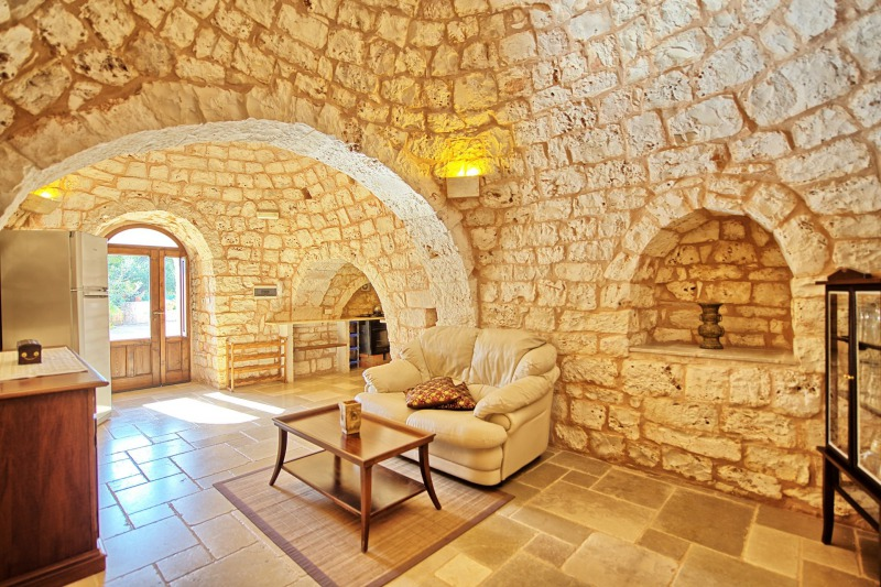 interior of a trulli