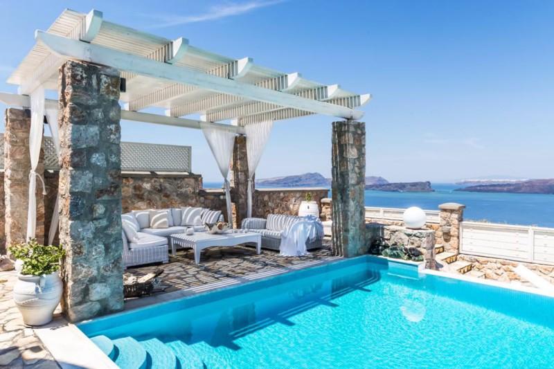 sea view luxury santorini villa