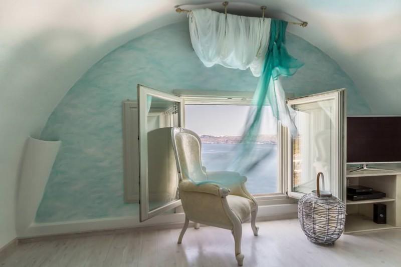 room luxury santorini villa for rent