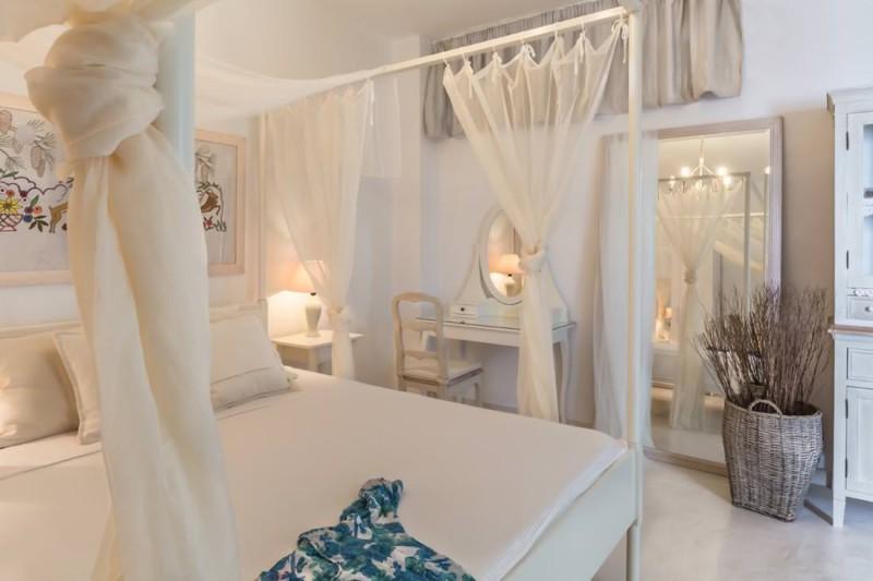 bedroom luxury santorini villa for rent