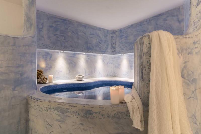 bathroom luxury santorini villa for rent