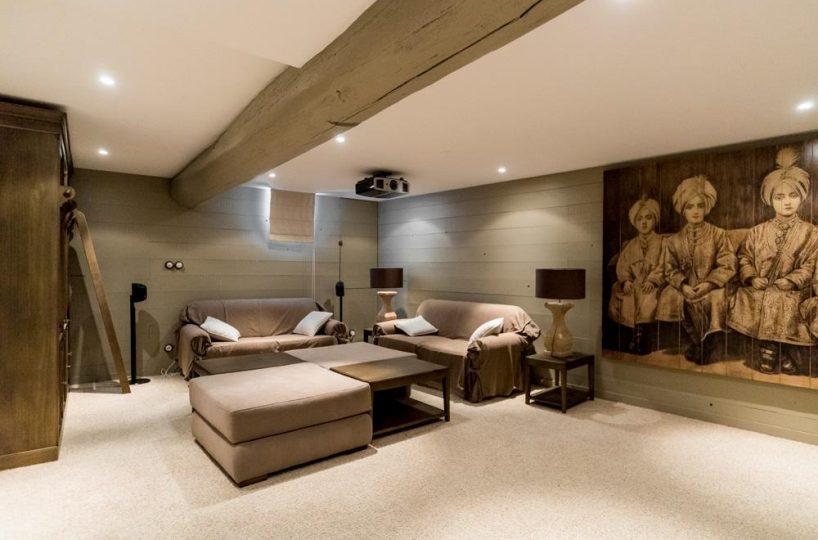 living room Ile de re private villa for rent France