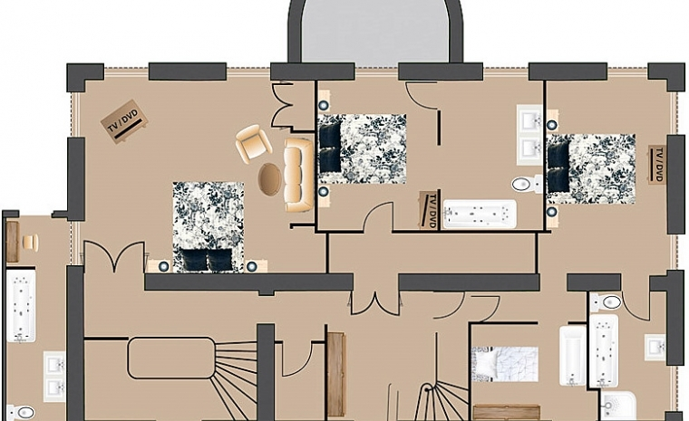 Floor plan 2 Luxury Chateau Burgundy France