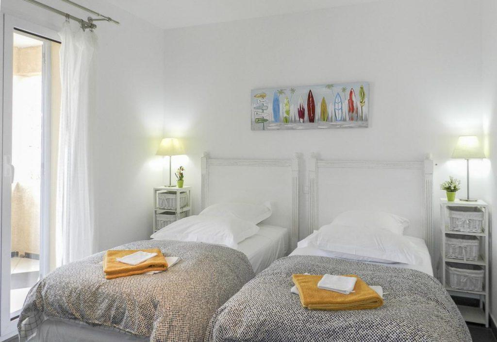 Twin en-suite bedrooms Family-friendly beach villa in Corsica