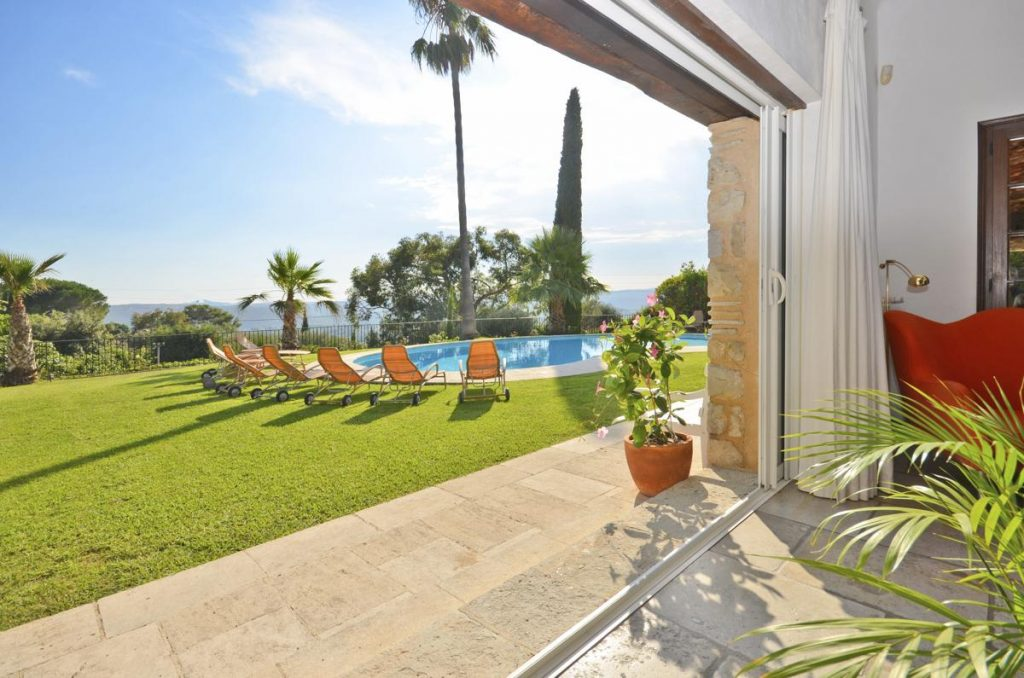 Views from the villa of sea by the pool