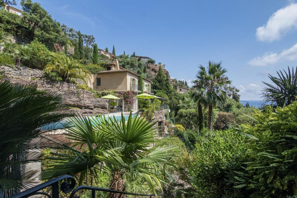 Pool and house villa private pool french riviera