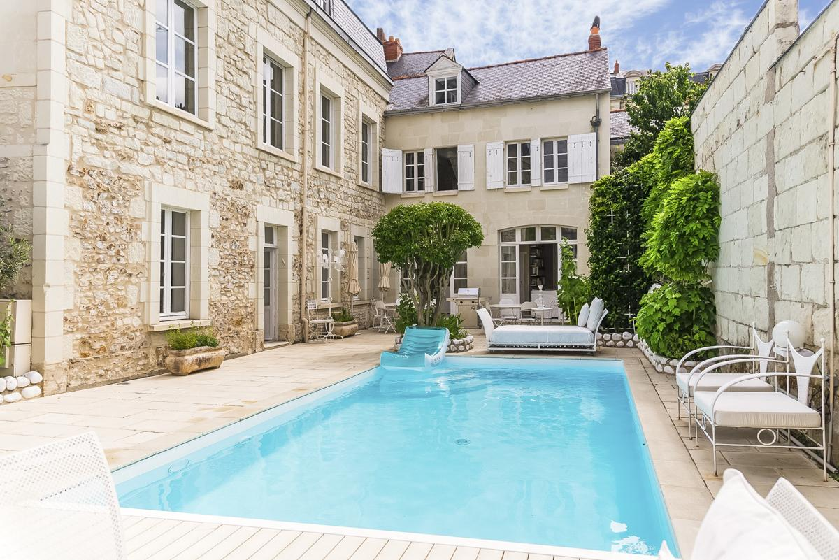 villa in loire valley with pool