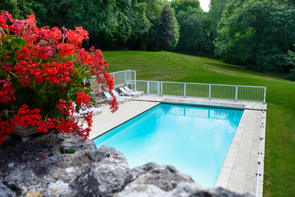 Swimming pool out door with gardens