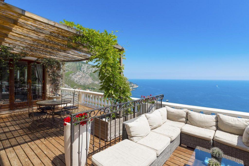 Villa inside interior with panoramic views