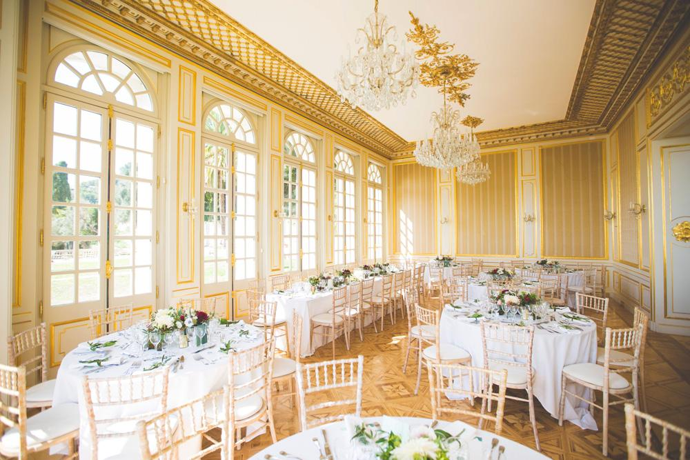 Large wedding dining area indoor