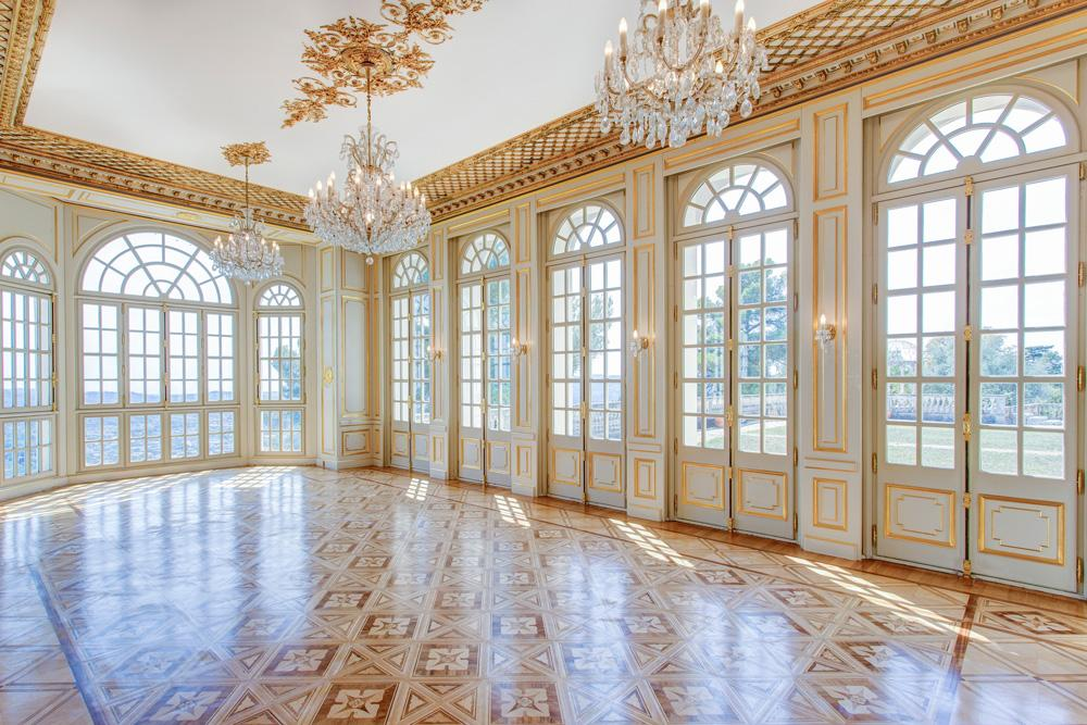 Ball room dancing floor of the villa in Grasse France