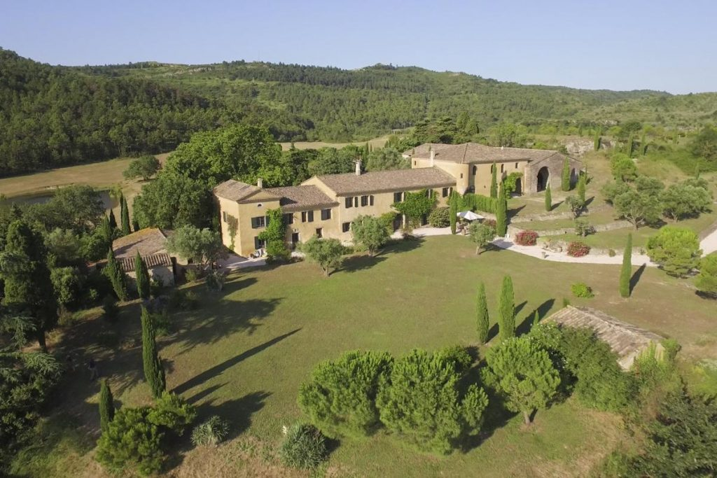 Estate Gardens and house Domaine in Carcassonne Languedoc-Roussillon
