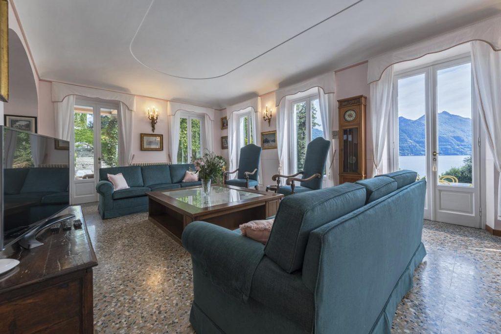 Living room of lake Como Villa