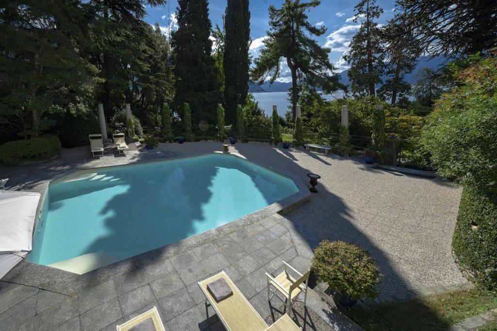 Heated swimming pool large luxury villa in lake como
