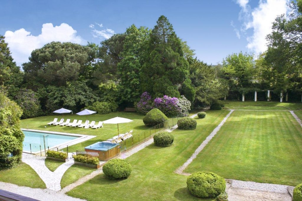 Outside Gardens of Large Aquitaine holiday rental with a Private pool