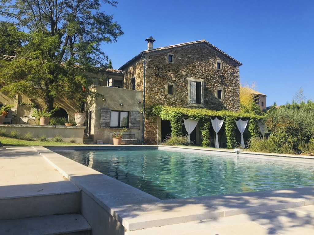 Garden and house Villa rental with a Pool in Uzes, Languedoc