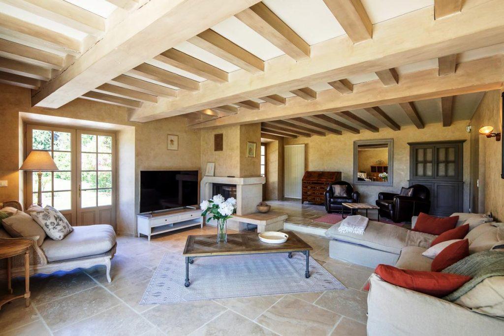 Interior of the villa in Provence