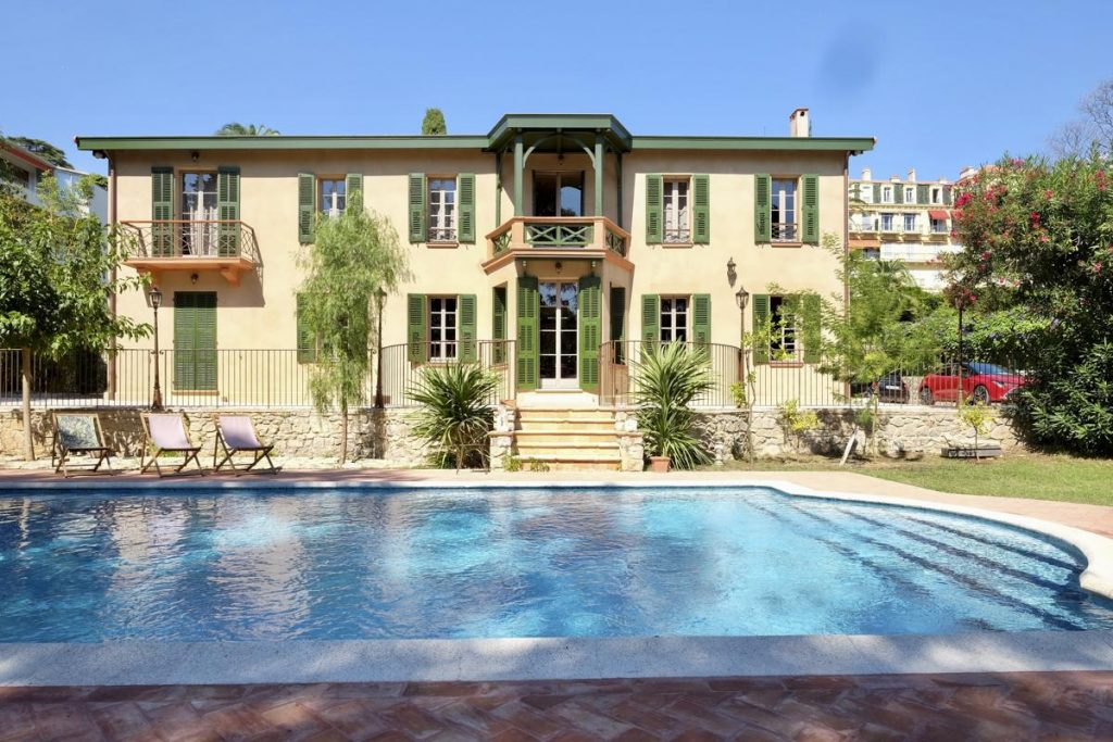 Swimming pool out door Private luxury villa rental in Cannes
