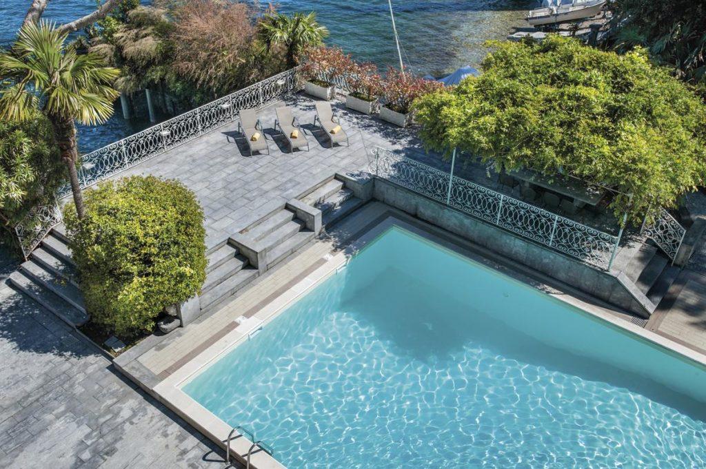 Garden and swiming pool Lake Como luxury villa holiday rental