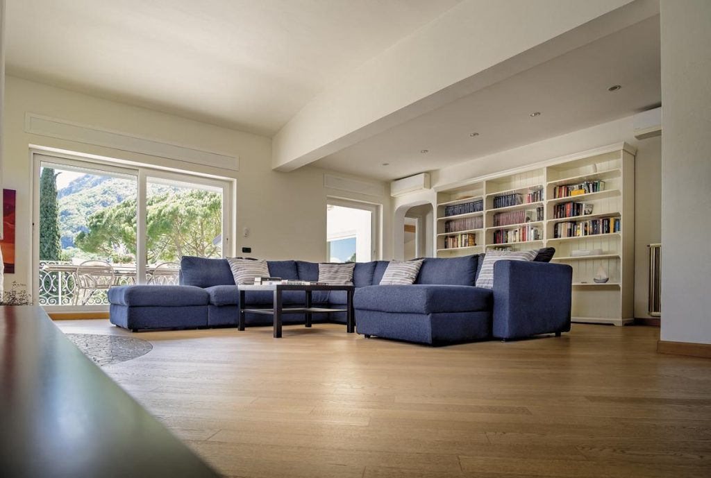 Villa Interior living area sofa views