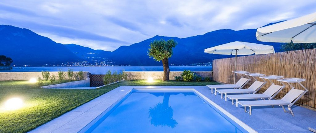 Outside Garden with pool Villa with a pool near Bellagio in Lake Como