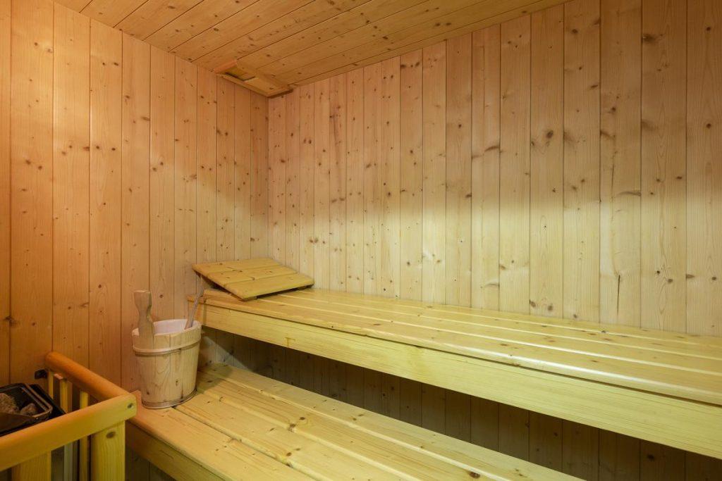 Sauna in the villa lake como