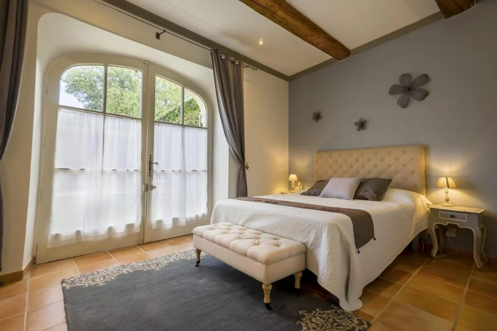 Ensuite Bedroom of wedding castle Avignon France