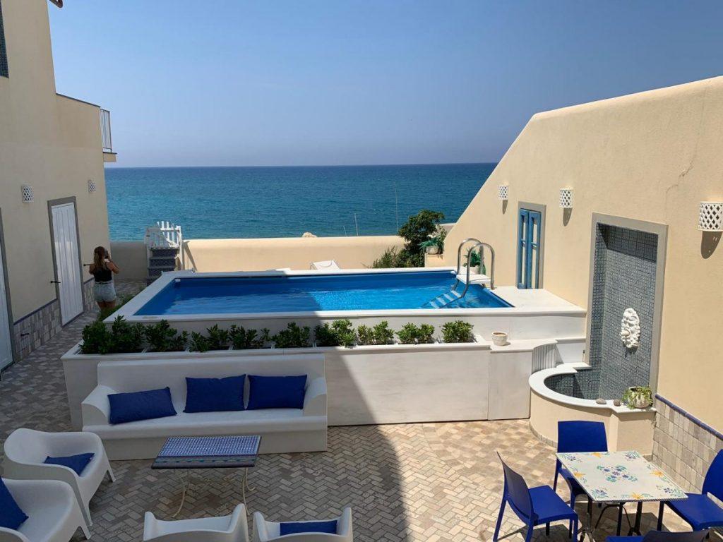 Pool and beach Luxury sicilian villa in Italy