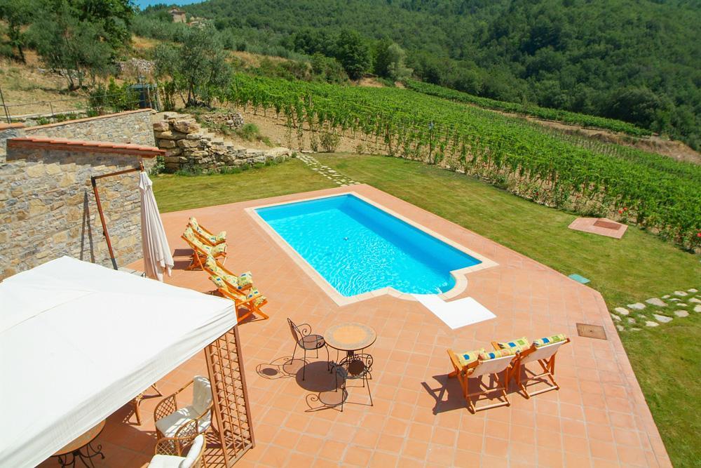 Pool and estate Chianti Villa in Gino D'Acampo's Italian Express