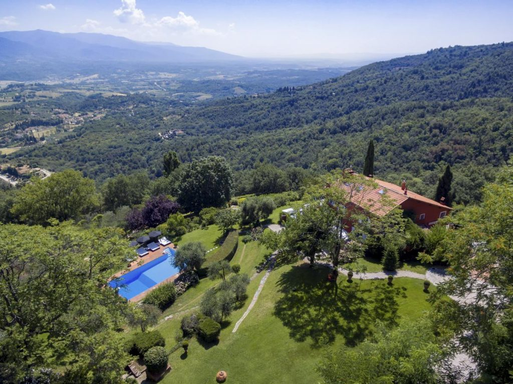 Views from the Priavte Luxury villa rental in Florence, Italy