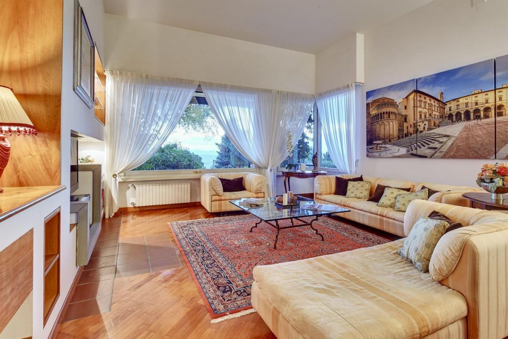 Villa Interior living space with soafas