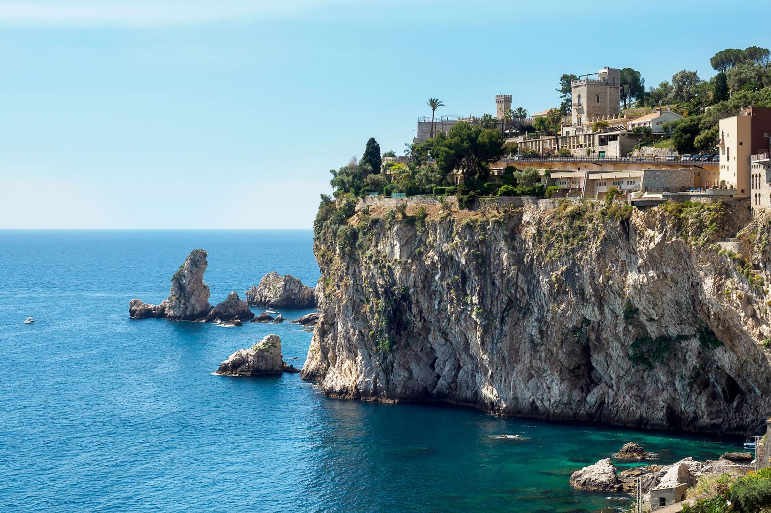 View from outside Luxury Villa Taormina Sicily