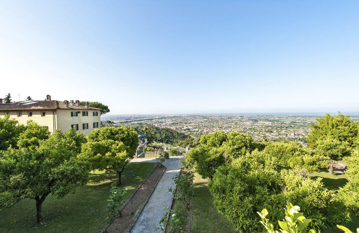 Outdoor views from the Large group-friendly villa in Lucca, Tuscany