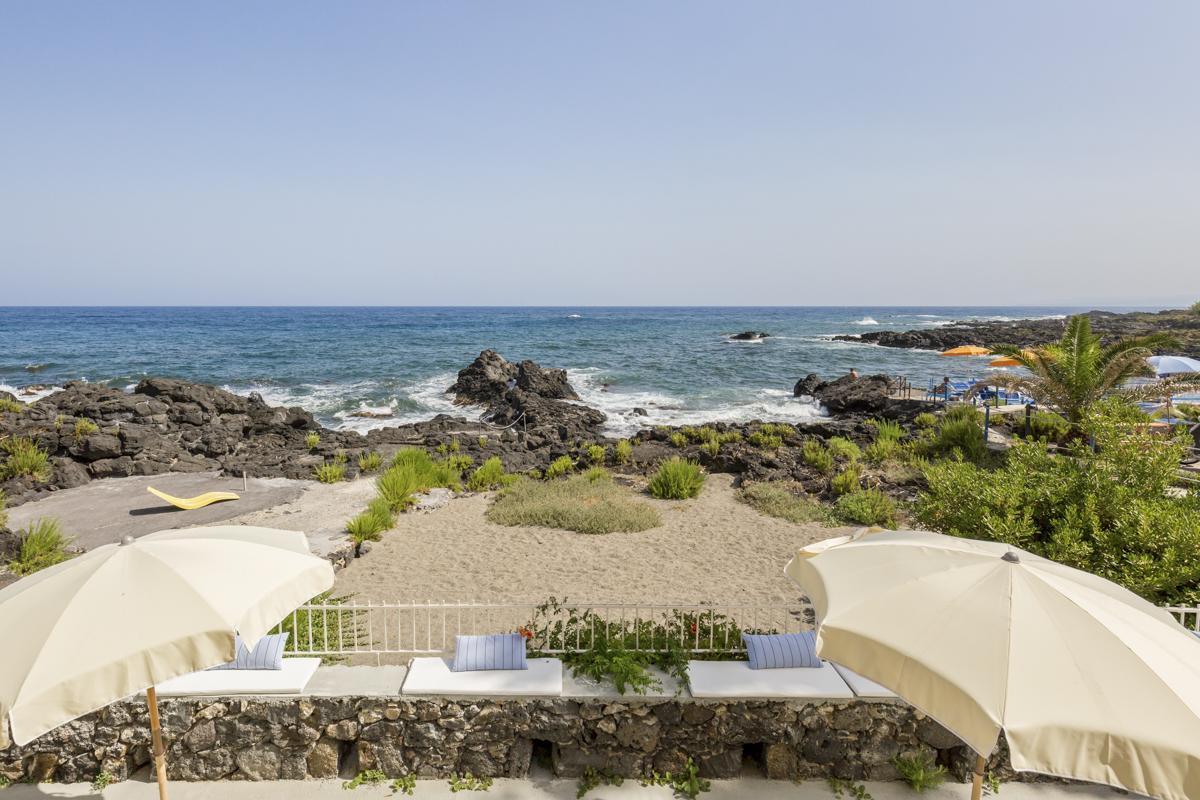 Sea views from Large Luxury beach holiday villa in Taormina, Sicily