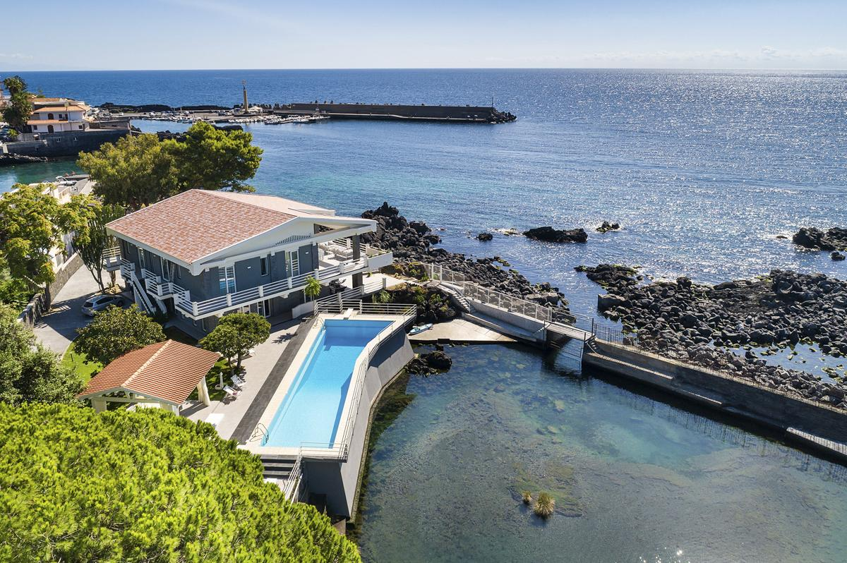 pool and Sea views Luxury Seafront Villa in Catania, Sicily
