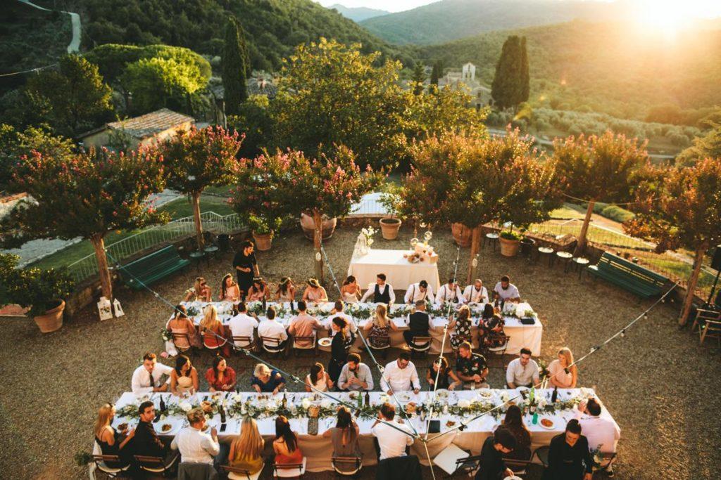Wedding outdoor party