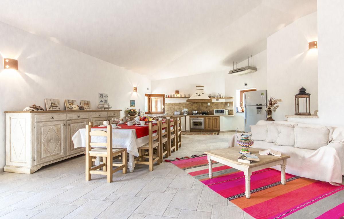 Villa interior sofa dining table living room