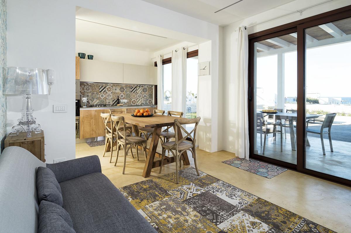 villa interior SOfa sea views
