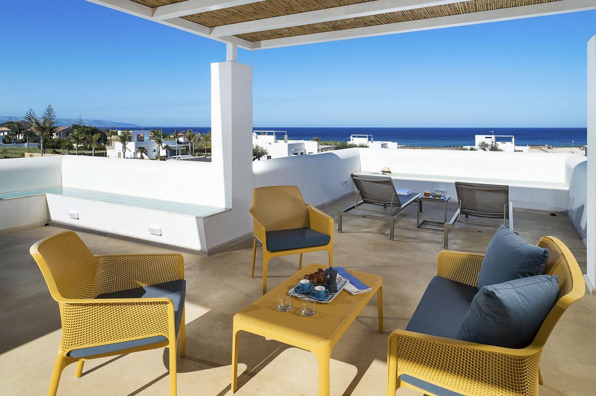 Family villa terrace first floor on bedrooms