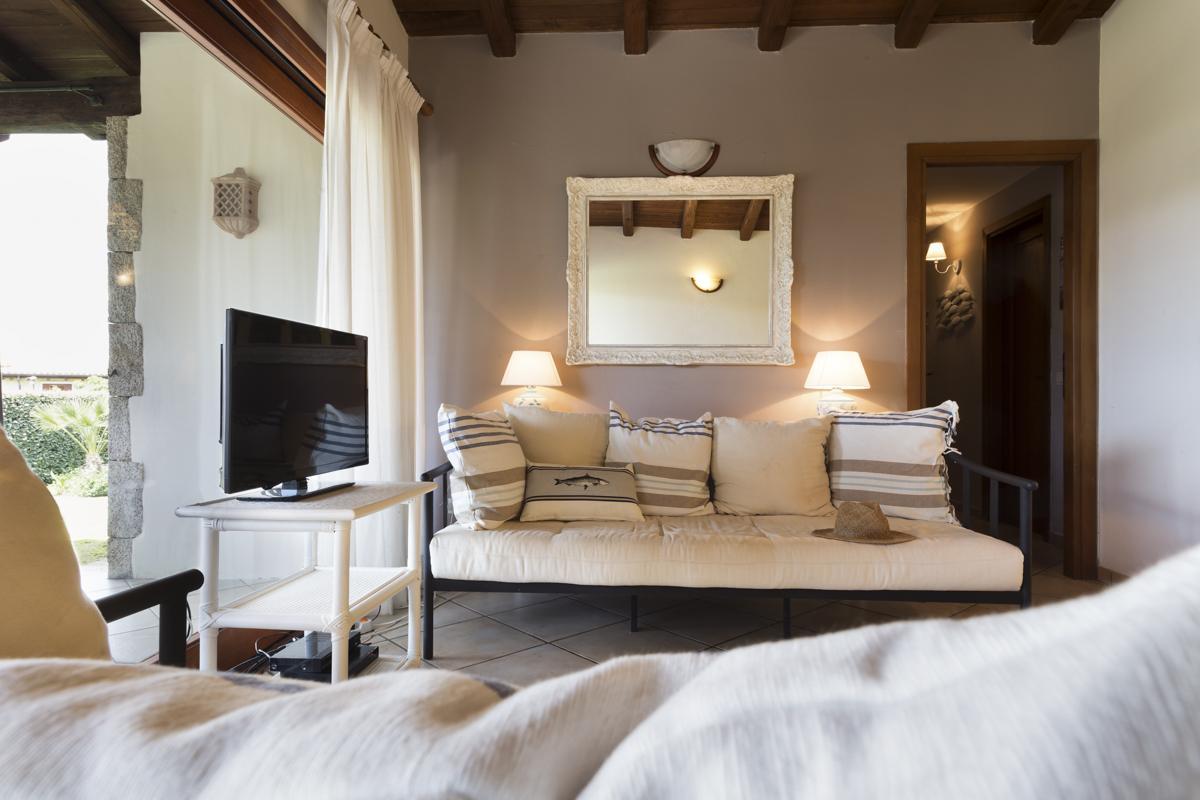 Villa interior sitting with TV Lounge