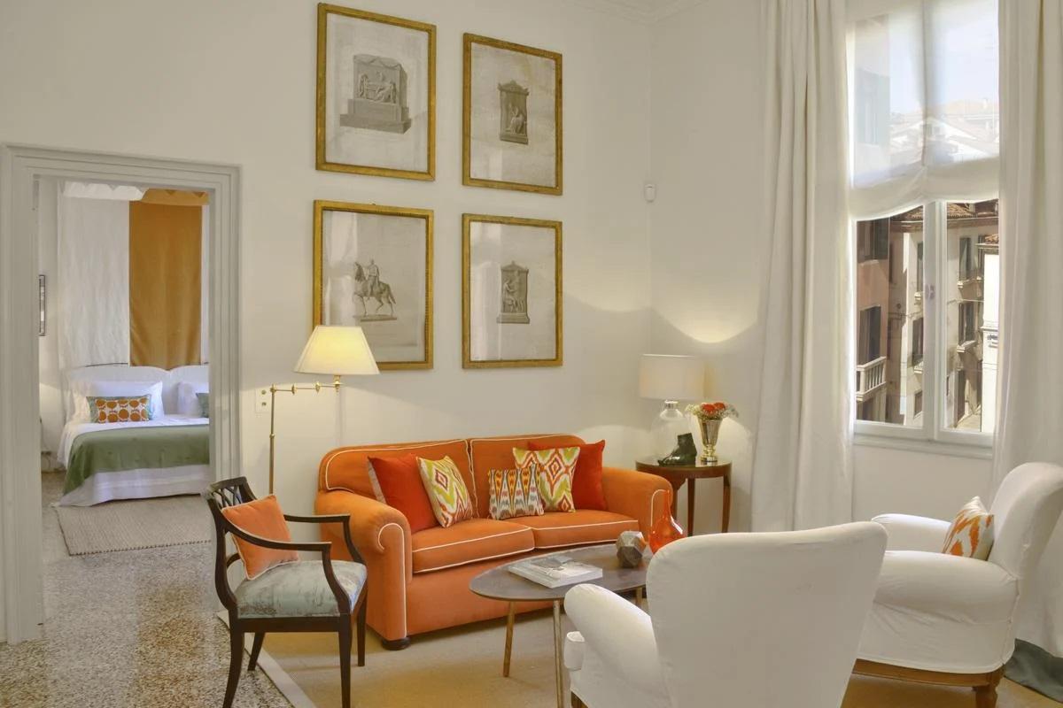 Luxury villa Apartment interior living sofa Venice, Italy