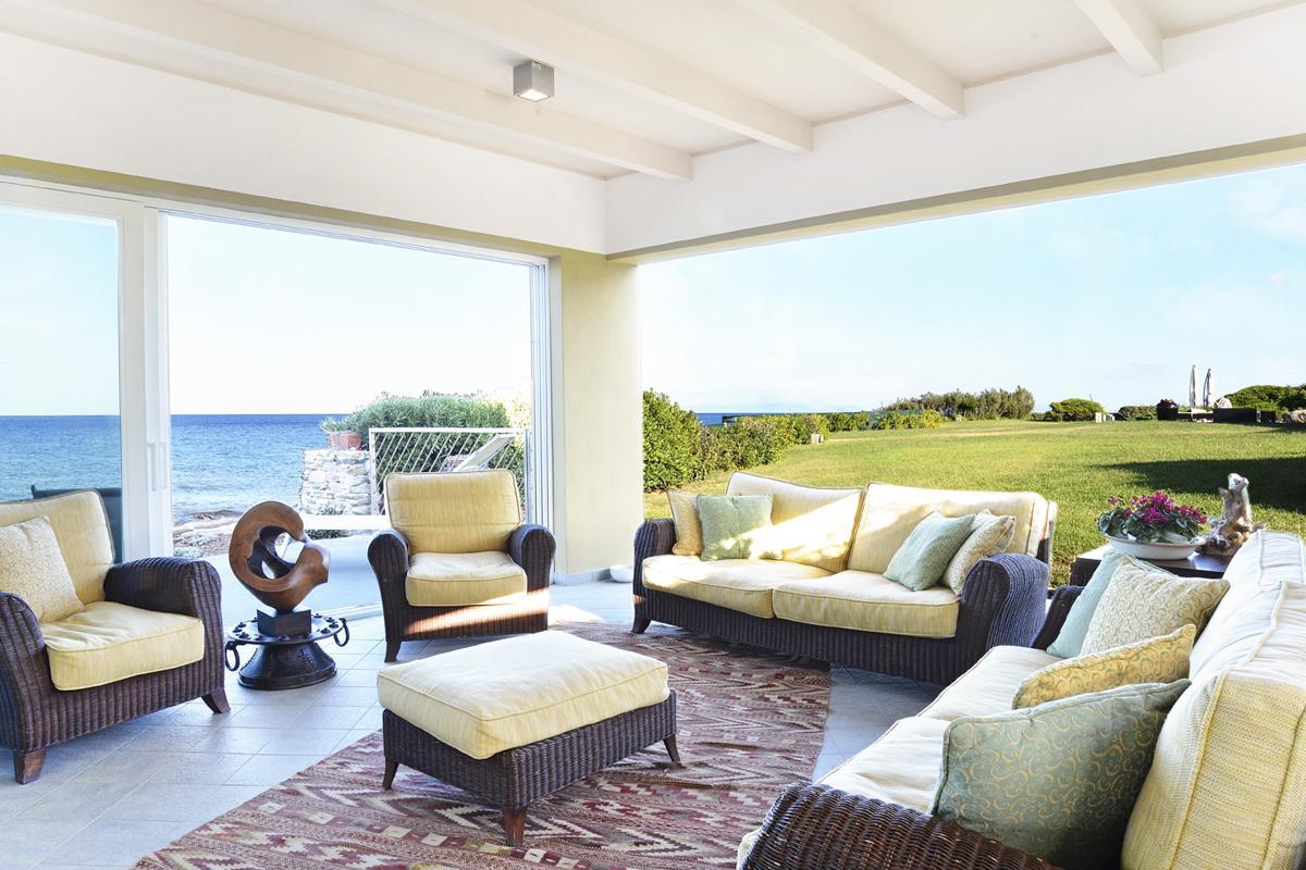 Luxury beach villa with a pool in Sardinia