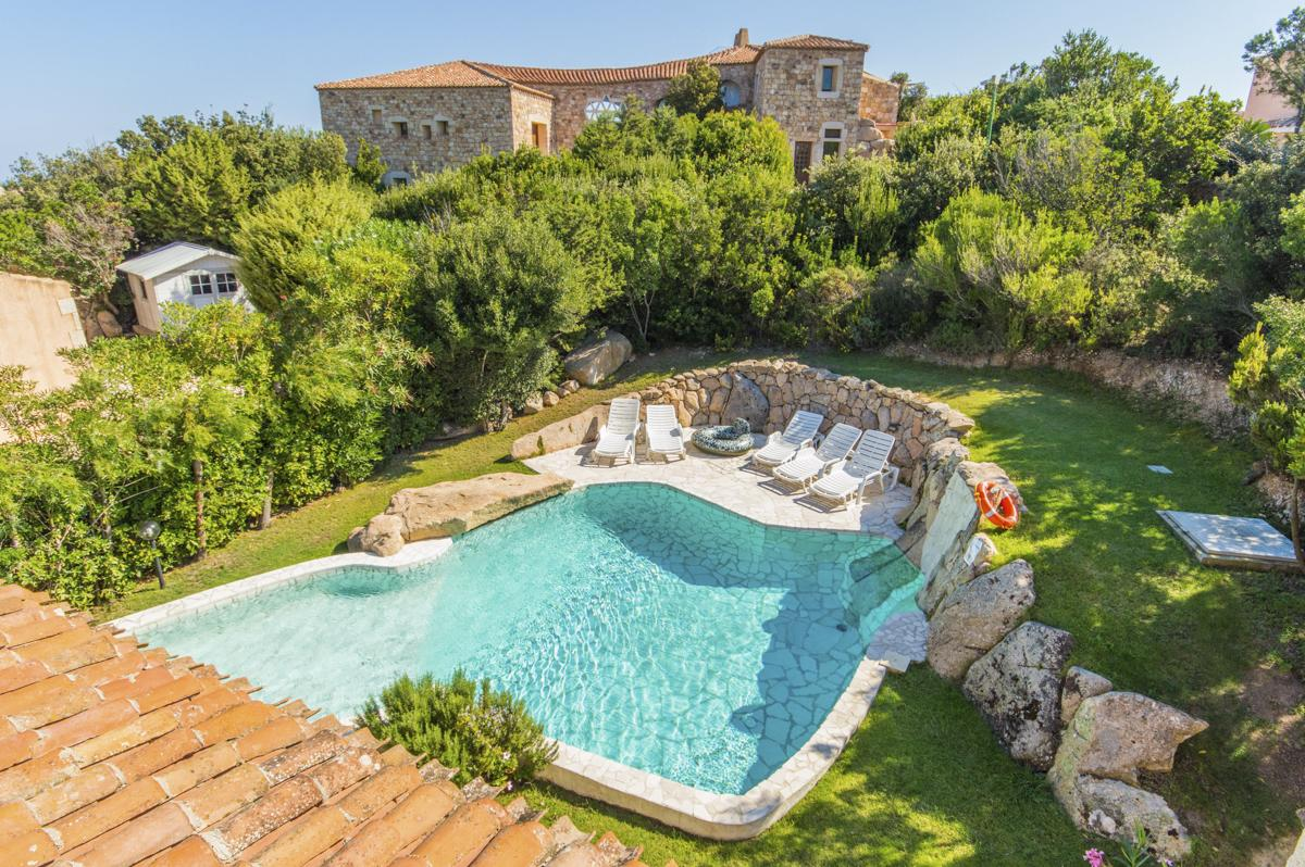 Pool Gardens outdoors Luxury family villa in Sardinia, near Porto Cervo