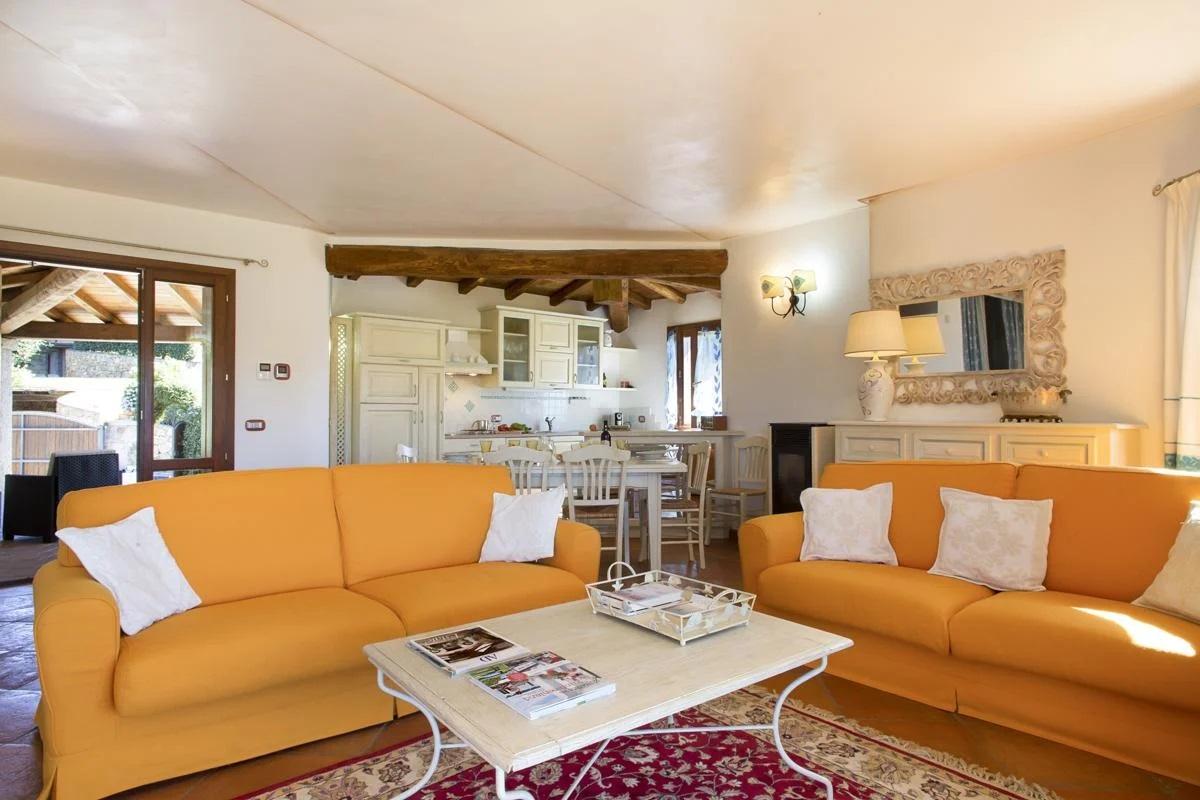 Villa interior Sofa dining table villa Sardinia Italy